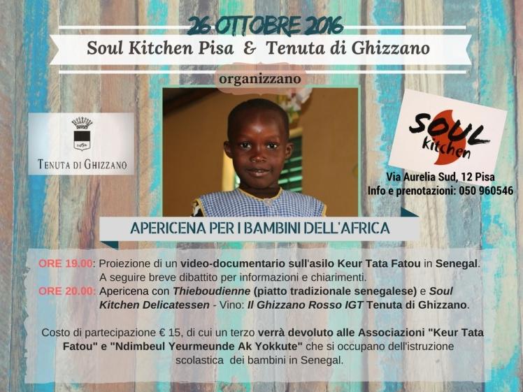 Apericena per i bambini dell'Africa