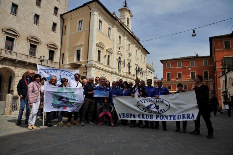 Il Vespa Club Pontedera a Rieti